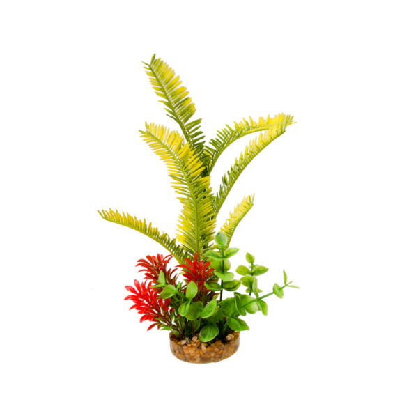 CB-2012-GR - ColorBurst Florals® Gravel Base Plant - Sword Plant - Green