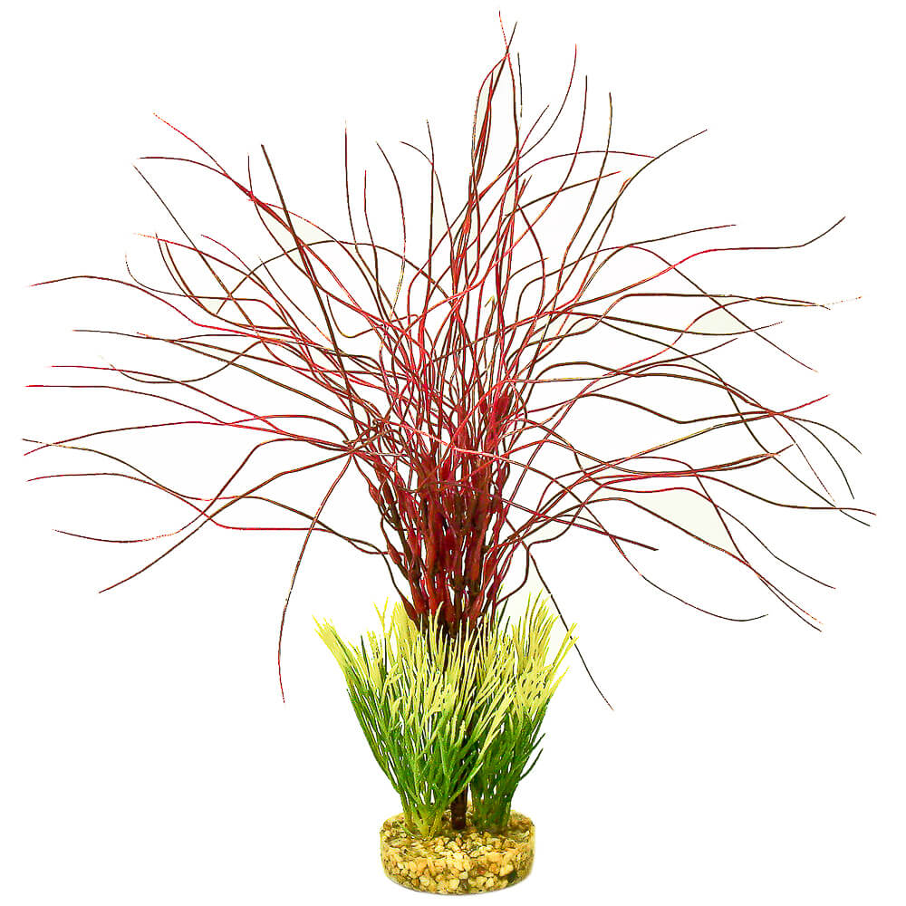 CB-2013-RD - ColorBurst Florals® Gravel Base Plant - Water Hair Grass - Red