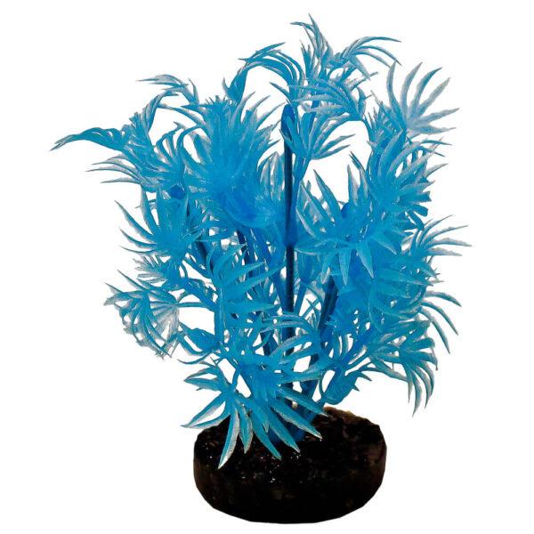 CB-2100-NBL - ColorBurst Florals® Dragon Leaf Plant - Neon Blue