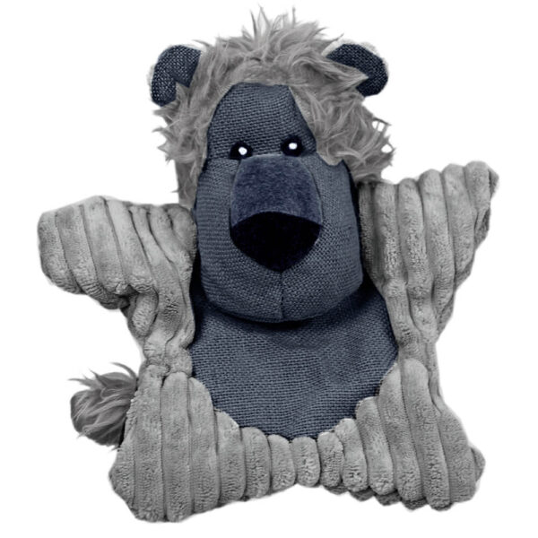 DTP-114-GY - Plushables® Natra Buddies® - Happy Lion - Grey