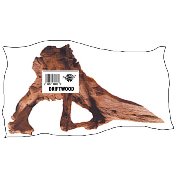 DW-SP - Small Natural Driftwood 8-12 inches Individually Wrapped With UPC Label