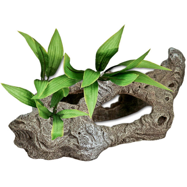 EE-1001 - Exotic Environments® Rock Tunnels w/ Silk Style Plants-B