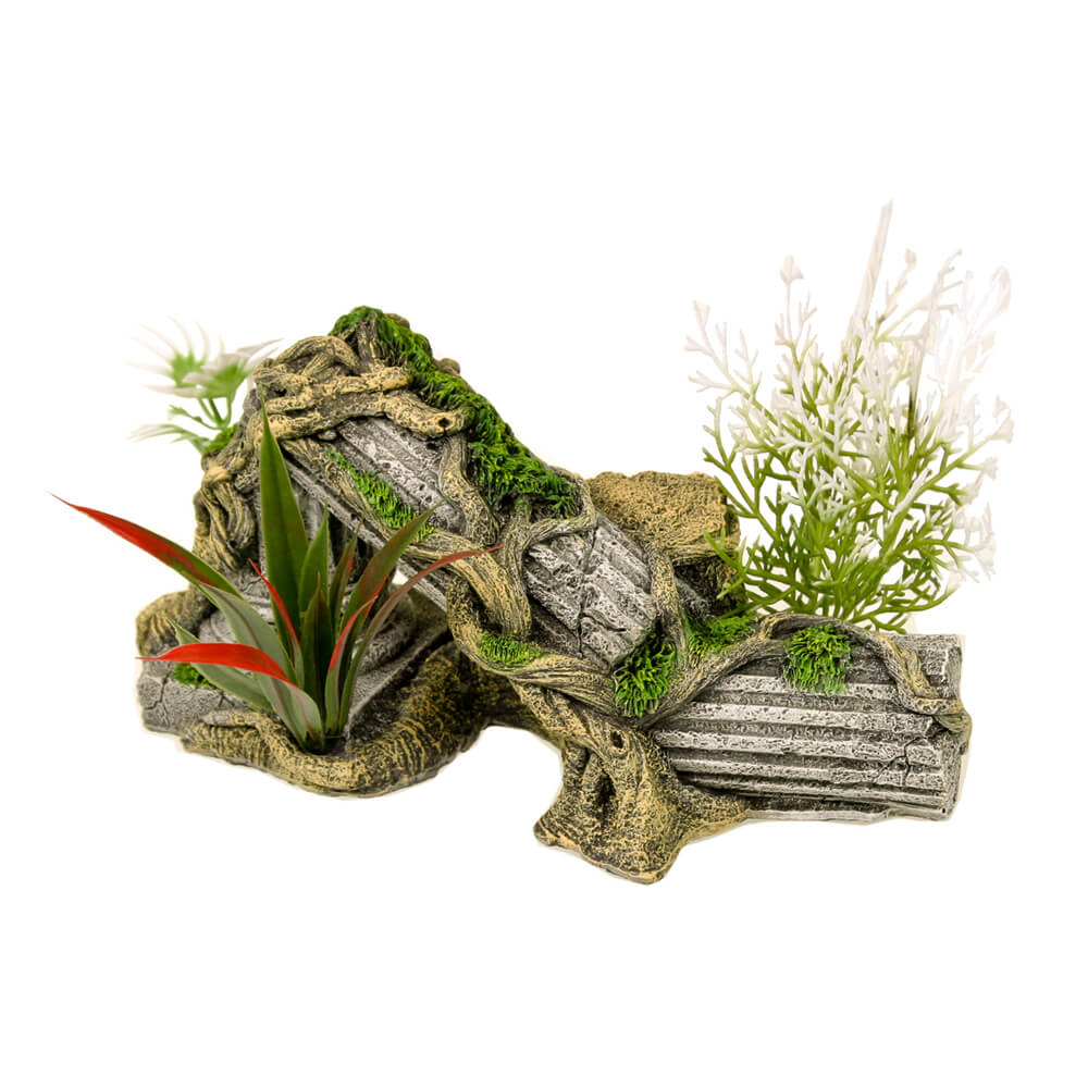 EE-1017 - Exotic Environments® Ancient Column Ruins w/ Plants