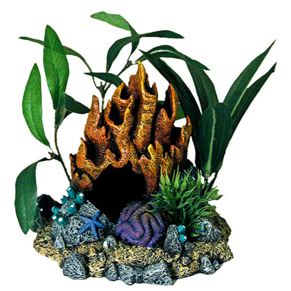 EE-1050 - Exotic Environments® Fire Coral Cave With Plants