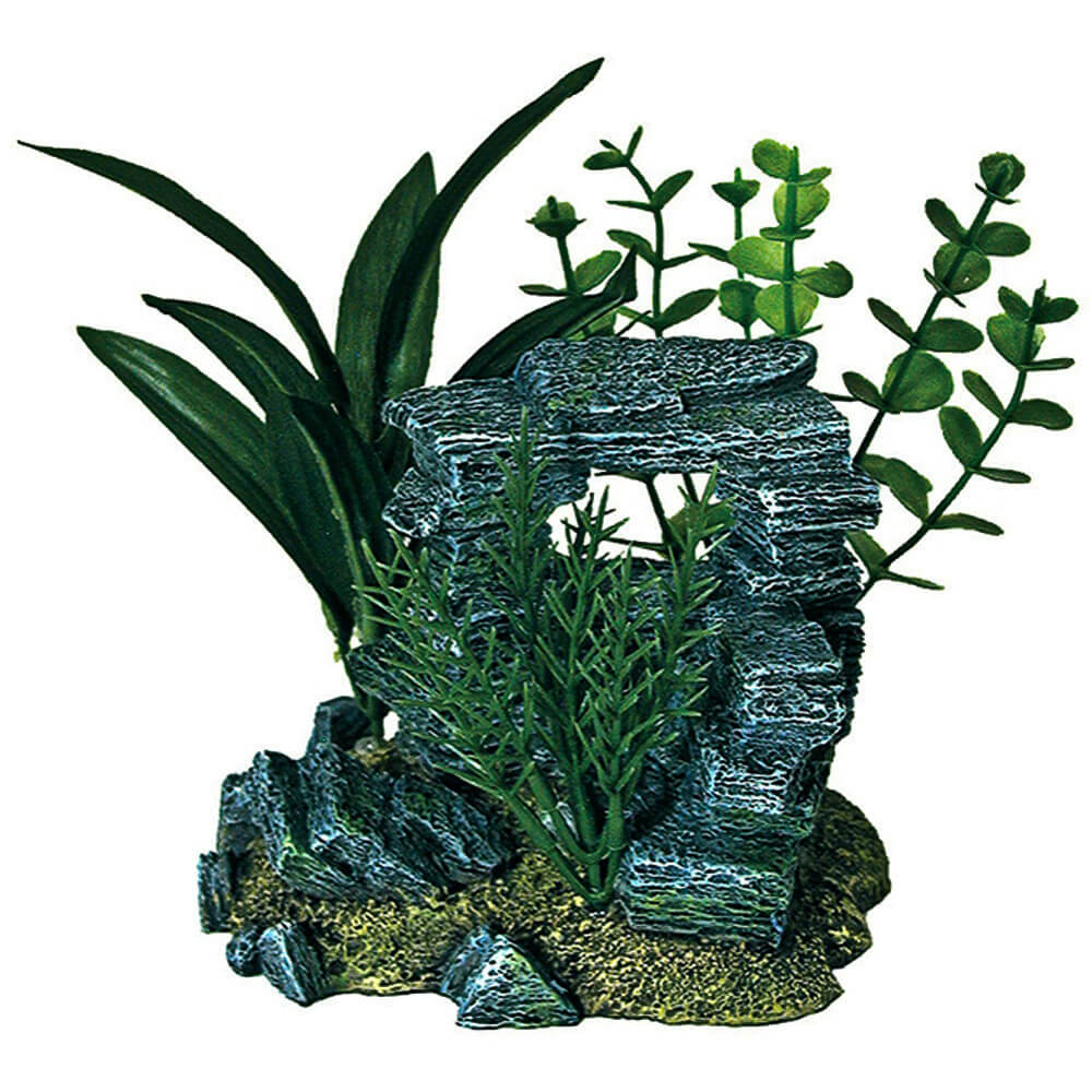 EE-1090 - Exotic Environments® Rock Arch With Plants - Small