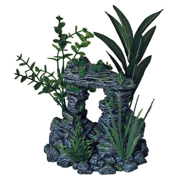 EE-1091 - Exotic Environments® Rock Arch With Plants Medium