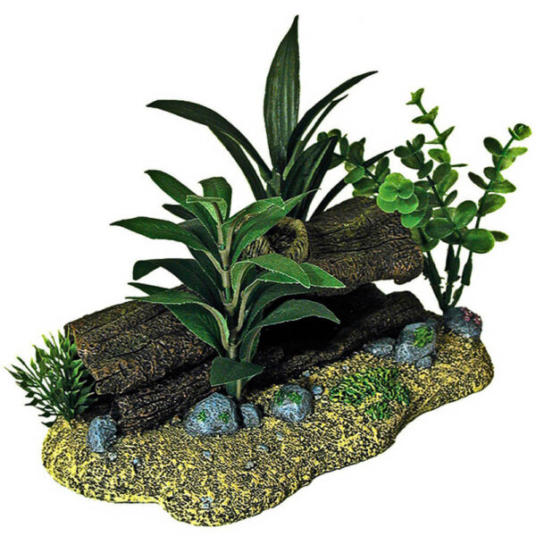EE-1098 - Exotic Environments® Log Cavern with Plants