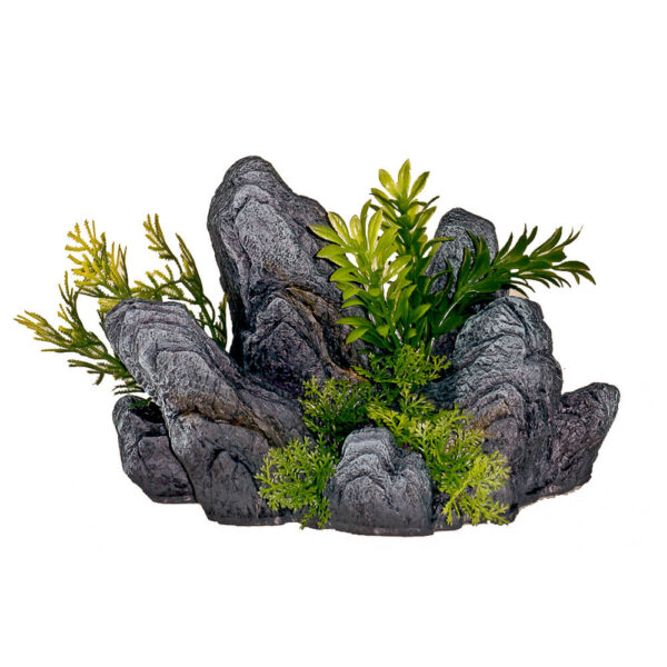 EE-1120 - Exotic Environments® Rock Out Cropping with Green Plants