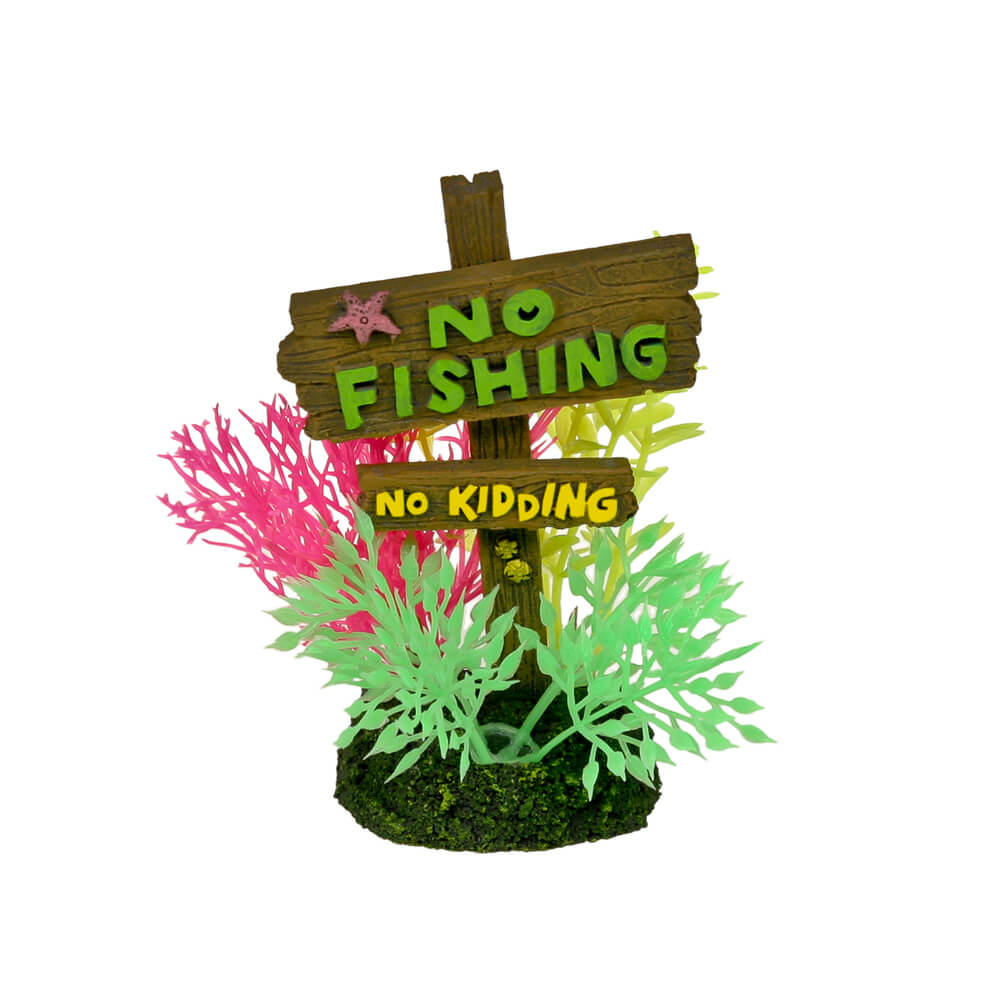 EE-1143 - Exotic Environments® No Fishing No Kidding Sign - Small