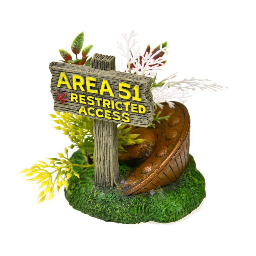EE-1152 - Exotic Environments® Area 51 Sign with UFO