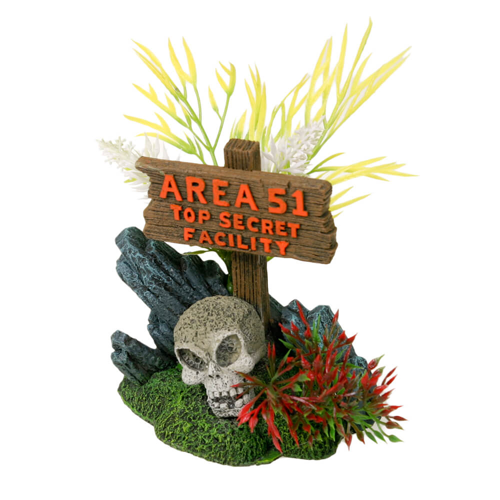 EE-1153 - Exotic Environments® Area 51 Sign with Skull