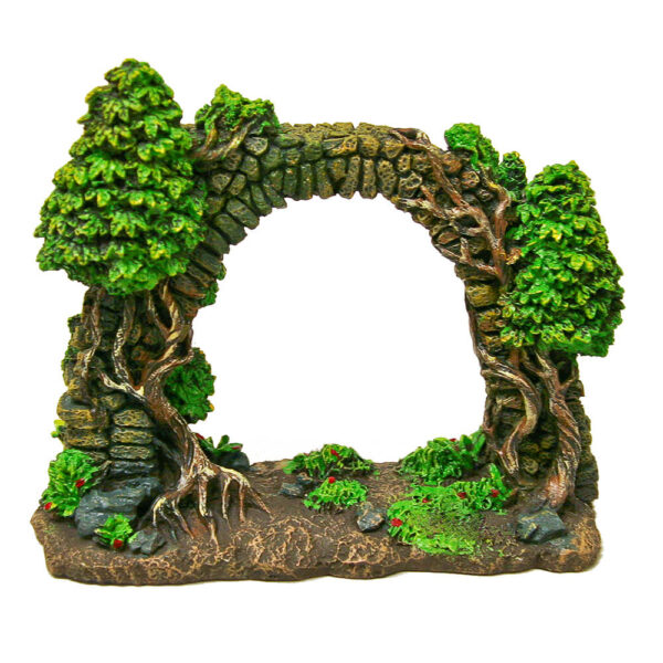 EE-120 - Exotic Environments® Forgotten Ruins Cobblestone Arch Wall w/Trees