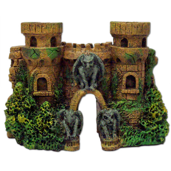 EE-123 - Exotic Environments® Cobblestone Castle Walls W / Gargoyles