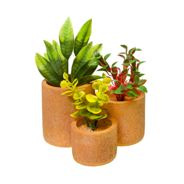 EE-1750 - Exotic Environments® Round Flower Pot Garden - Terra Cotta Nat