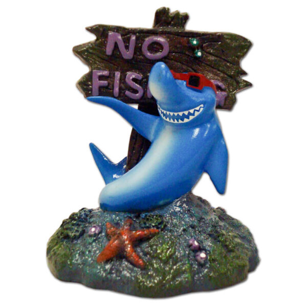 EE-380 - Exotic Environments® Small Wonders Cool Shark With No Fishing Sign