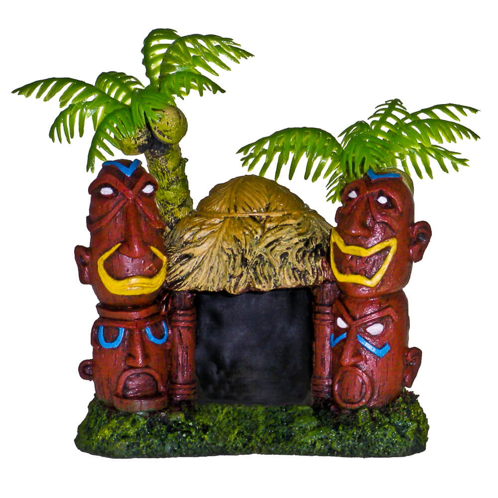 EE-529 - Exotic Environments® Betta Hut with Two Palm Trees