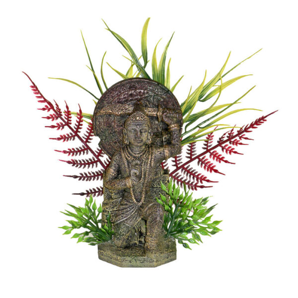 EE-693 - Exotic Environments® Buddha Warrior with Plants - Small