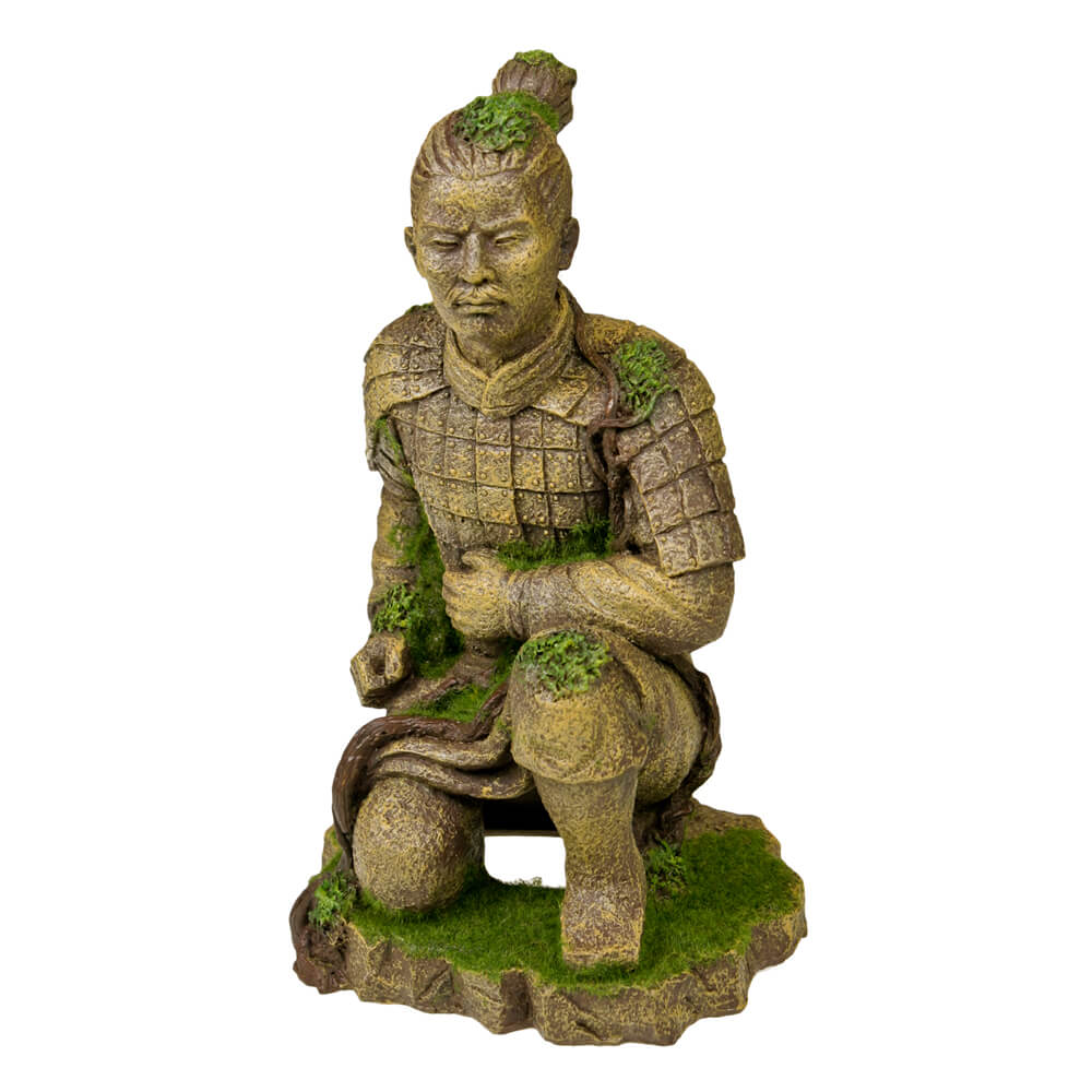 EE-698 - Exotic Environments® Qing Dynasty Terracotta Statue with Moss