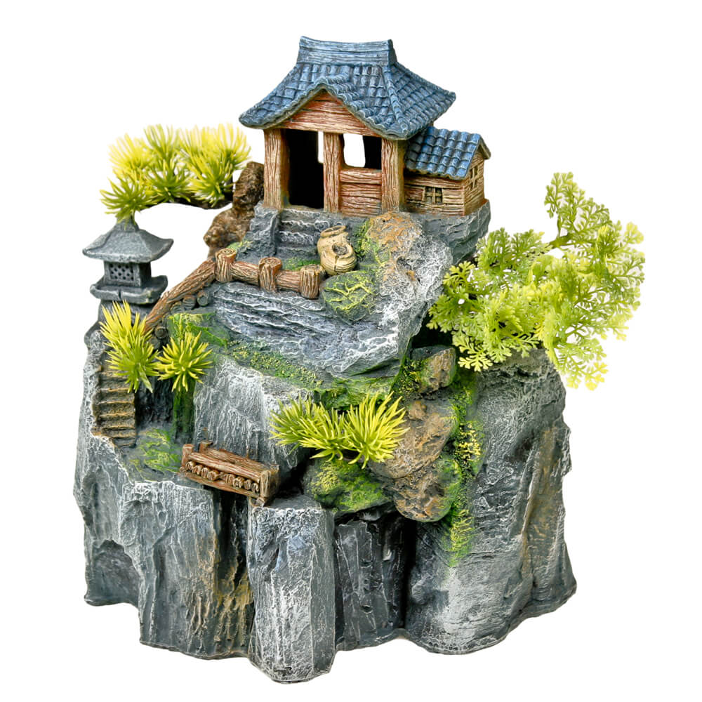 EE-699 - Exotic Environments® Asian Cottage House w/ Bonsai