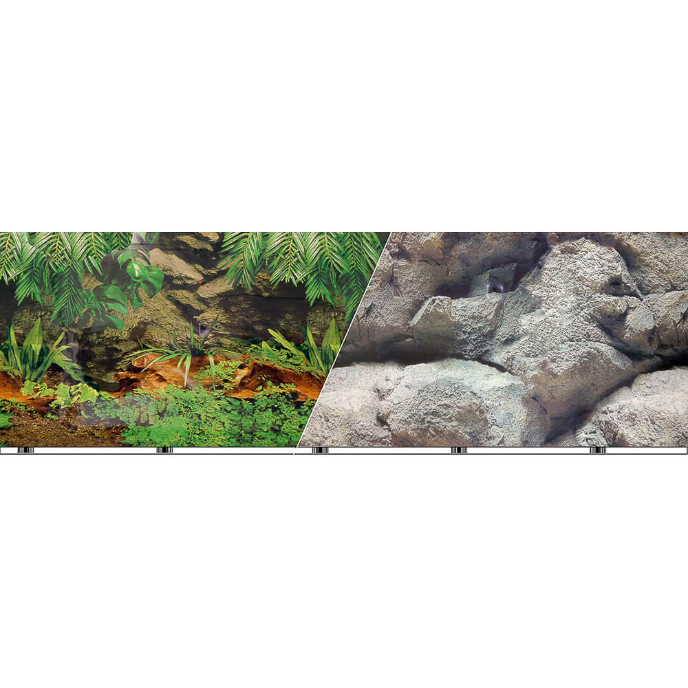 "VSB-11-12 - Vibran-Sea® Double Sided Background 12"" - Rainforest/Freshwater"