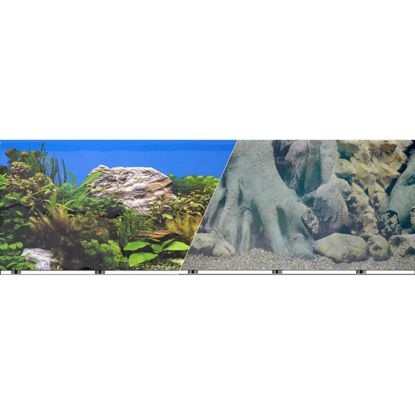 "VSB-12-19 - Vibran-Sea® Double Sided Background 19"" - Tree Trunks/freshwater"